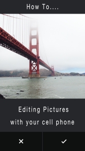 Editing pictures with your cell phone