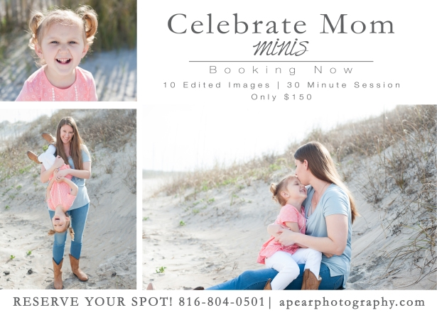 Celebrate mom mini promo postcard